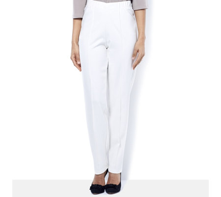 Kim & Co Milano Knit Pin Tuck Petite Trousers