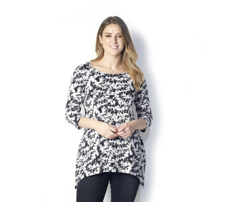 Artscapes Sharkbite Hem Printed Tunic