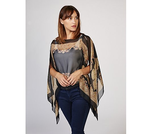 Frank Usher Printed Chiffon Summer Cover Up