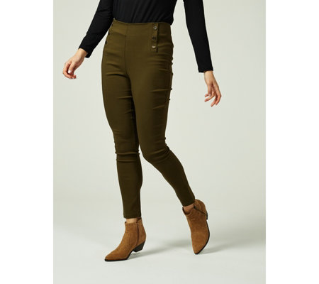 Millenium Skinny Trousers with Elasticated Waist by Nina Leonard
