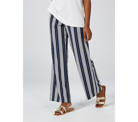 Mr Max Striped Wide Leg Trousers