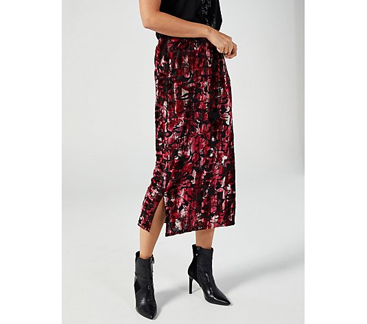 Floral Burnout Skirt by Michele Hope