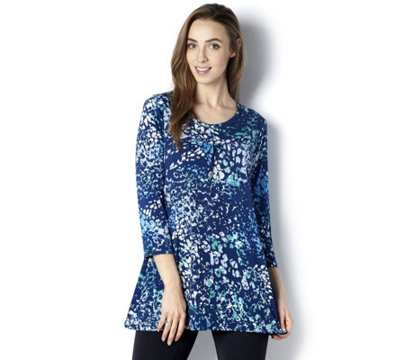 Grace 3/4 Sleeve Abstract Print Tunic
