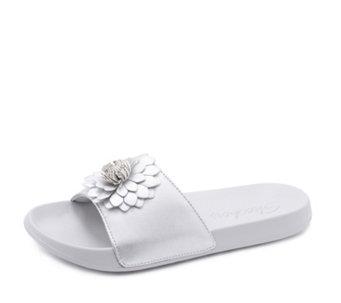 40efae19f4c Skechers 2nd Take Flower Embellished Slider Sandal - 169809