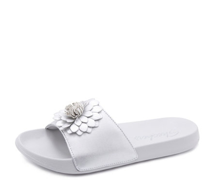 Skechers 2nd Take Flower Embellished Slider Sandal
