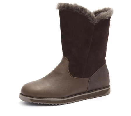Emu All Weather Latrobe Leather & Suede Zip Mid Length Boot