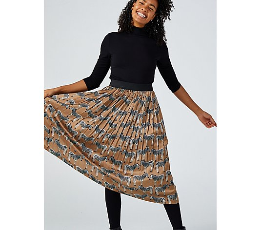 Helene Berman Pleated Midi Skirt