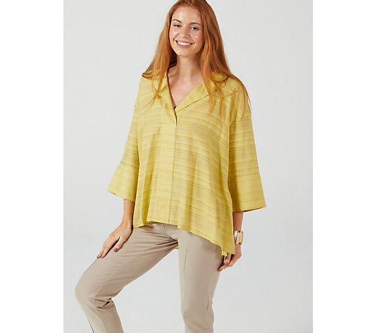 WynneLayers Dolman Sleeve Popover Stripe Shirt