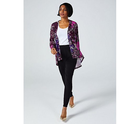 Mosaic Paisley Edge to Edge Cardigan by Michele Hope
