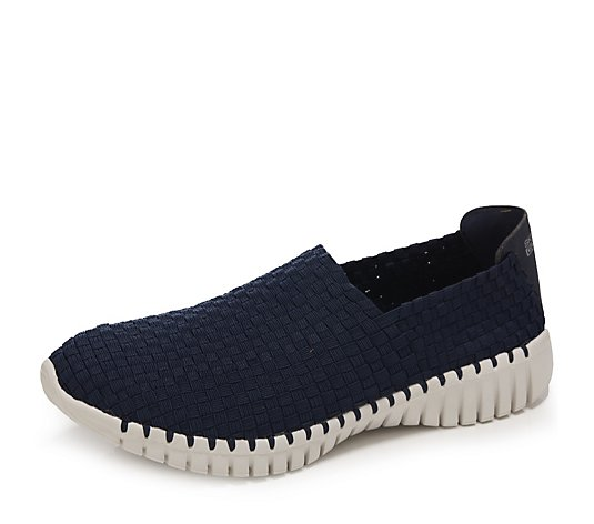 Skechers Go Walk Smart Stretch Woven Slip On Trainers