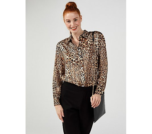 Helene Berman Animal Print Shirt