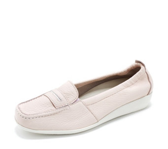 Vitaform Leather Loafer with Stitch Detail - 164410