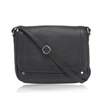 Amanda Lamb Leather Triple Compartment Crossbody Bag 172210