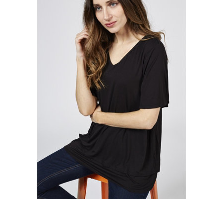 Together Double Layer Angle Sleeve Top
