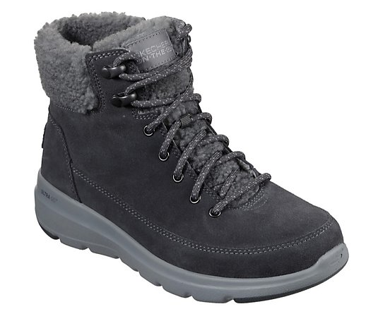 Skechers Glacial Ultra Suede Lace Up Boot