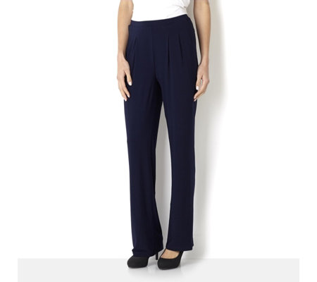 Basic Pull On Petite Trousers with Pintuck Detail by Nina Leonard