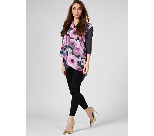 Butler & Wilson Floral High Neck Top