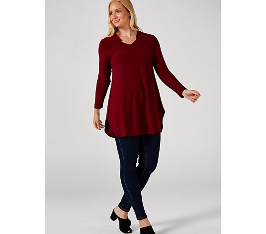 Together Solid Knit Jersey Tunic