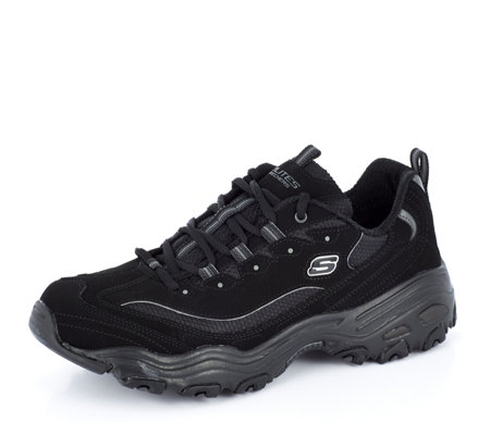 Skechers Stamina Suede Mesh Trail Lace Trainer QVC UK