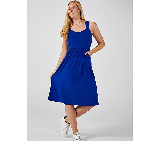 Kim & Co Brazil Jersey Strappy Dress with Pockets