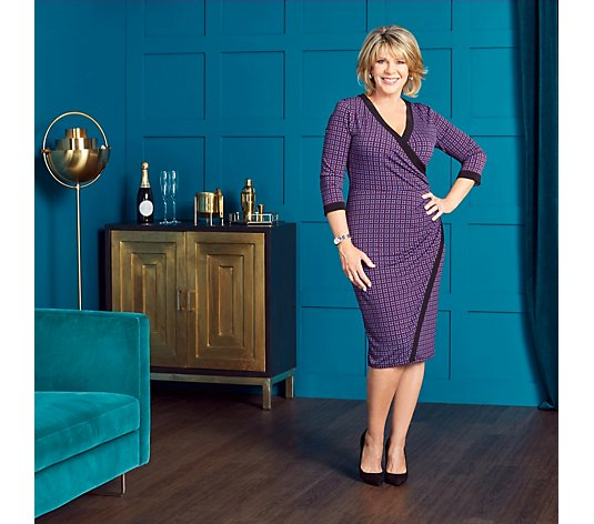 Ruth Langsford Geo Print Faux Wrap Dress Tall