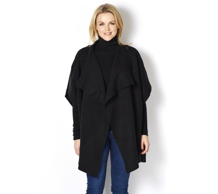 Attitudes by Renee Knitted Popper Fastening Poncho