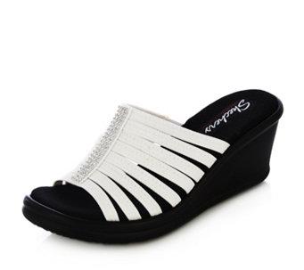 ffeaadc02828 Skechers Rumblers Hotshot Rhinestone Multi Strap Wedge Sandal with Memory  Foam - 163912