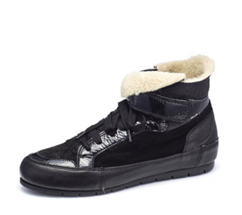 Manas Suede High Top Trainer - 168212