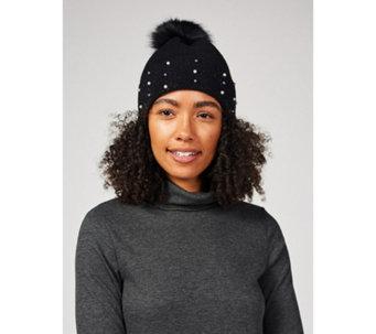 496386cfc8d8 Frank Usher Embellished Detachable Faux Fur Pom Hat - 175612