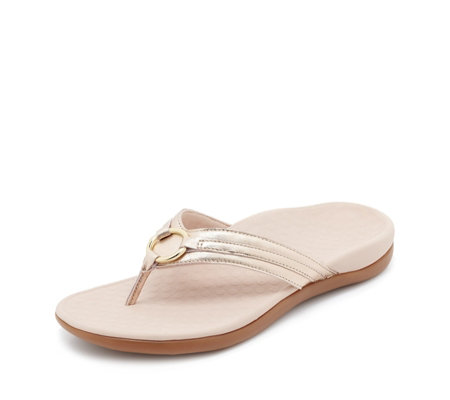 Vionic Orthotic Tide Aloe Circle Toe Post Sandal w/ FMT Technology