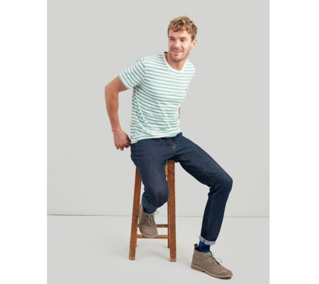 Joules Mens Boathouse Crew Neck Tee