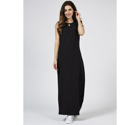 Denim & Co. Perfect Jersey Sleeveless Maxi Dress with Keyhole