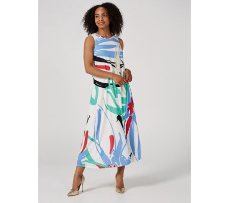 Ben de Lisi Jersey Printed Maxi Dress Short