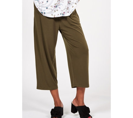 Kim & Co Brazil Jersey Cropped Wellness Trousers with Pockets