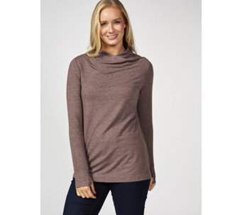 Cuddl Duds Comfortwear Long Sleeve Soft Cowl Mock Neck Top - 173713 3f8989143