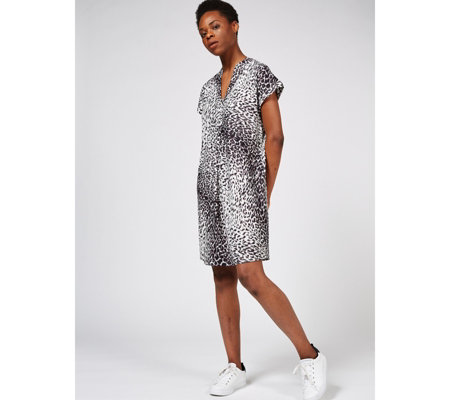 Together Animal Print Cap Sleeve Dress