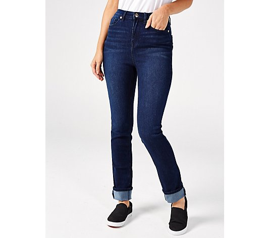 Diane Gilman 5 Pocket Cuffed Straight Leg Tall Jean