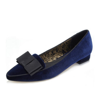 Ravel Liceu V&A Collection Velvet Shoe with Bow Trim - 168014