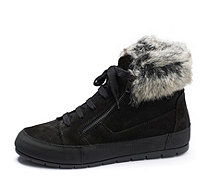 Manas Suede Trainer with Faux Fur Cuff - 168214