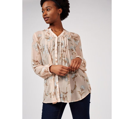 Together Buttoned Through Pin Tuck Shirt