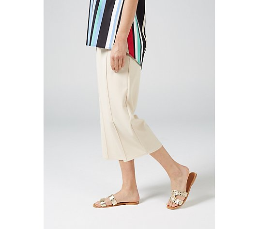 Ben de Lisi Crepe Culottes Trousers with Pleat Detail