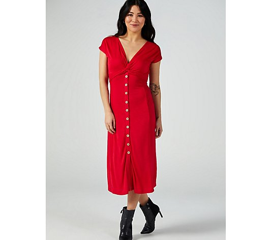 Monsoon Lettie Plain Midi Jersey Dress