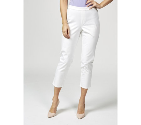 Isaac Mizrahi Live 24/7 Stretch Pull On Ankle Trousers Petite