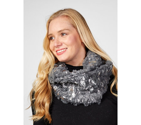 Frank Usher Foil Print Soft Touch Snood