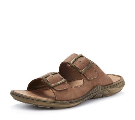 Rieker Mens Double Buckle Strap Slide Sandal