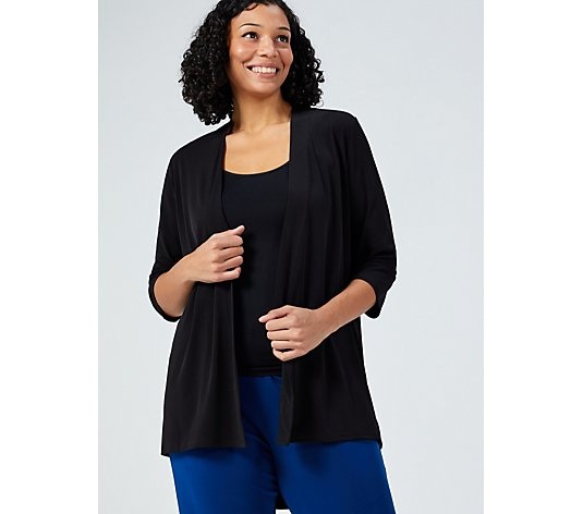 High Low Hem Edge To Edge Cardigan by Michele Hope