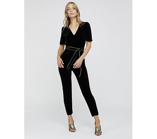 Monsoon Kimberly Velvet Jumpsuit