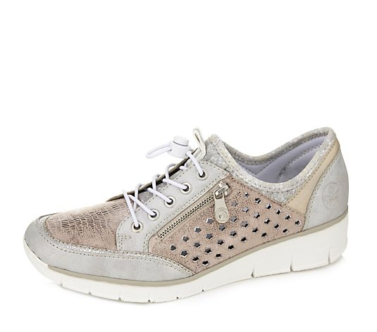 Rieker Side Zip Lace Trainer