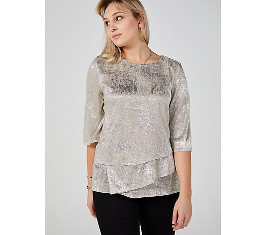 Ronni Nicole Metallic Detail Top