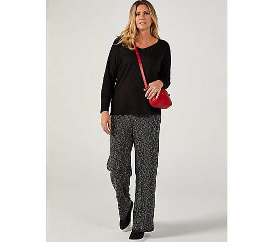 Kim & Co Boucle Relaxed Leg Trousers